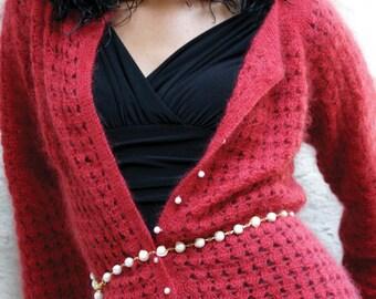 Crochet Pattern PDF - Crochet Lace Cardigan Sweater, Crochet Cardigan Pattern, PDF ONLY, Raspberry Fizz
