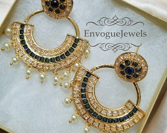 Jhumka earrings, Pakistan earrings, Indian wedding jewelry, Earrings, Chandbali, Jhumka, Boho earrings, Dark Gray, Bollywood jewelry, Jhumki
