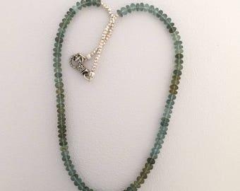 Moss Aquamarine necklace with pendant