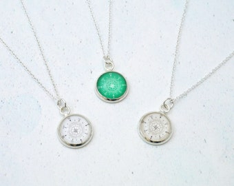 Compass Birthstone Necklace, Compass Necklace, Travel Gift, Graduation Gift, Birthstone Jewelry, Wanderlust Jewelry, Adventure Awaits