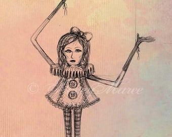 The Puppet - Fine Art Illustration