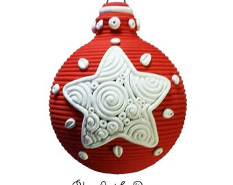 Swirly Star Ornament