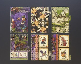 """Double sided laminated dividers - Pocket size - """"Halloween"""""""