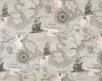 World map fabric etsy studio map fabric by the yard world map fabric vintage map print fabric grey fabric by the yard quilting fabric 100 cotton fabric gumiabroncs Choice Image