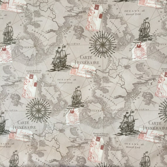 Map fabric by the yard world map fabric vintage map print fabric map fabric by the yard world map fabric vintage map print fabric grey fabric by the yard quilting fabric 100 cotton fabric from cmfabric on etsy studio gumiabroncs Choice Image