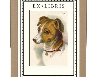 SALE Vintage Dog Bookplates ex libris