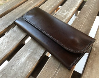 Handmade tobacco pouch / Vegetable tanned leather pouch / Full grain leather pouch