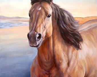 Custom Horse Painting in oil on canvas-Custom Horse Painting
