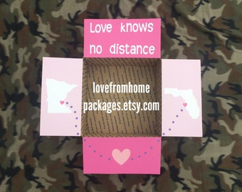 Love Knows No Distance Care Package Flaps