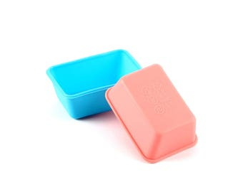 Mini Bread Loaf Silicone Pans / Tiny Petite Reusable Pound Cake Molds / Small Souffle Baking Loaf Pans / Kids Miniature Bakeware Cooking
