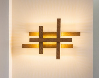 Wooden lighting etsy more colors led wall light wooden aloadofball Gallery