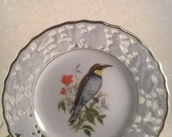 Old-Mitterteich ornamental plate bird motif
