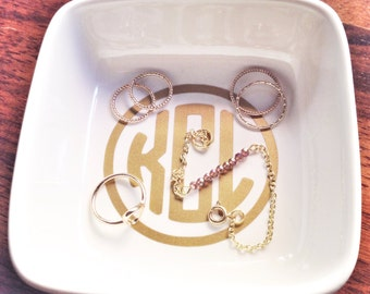 Custom Monogram Ring & Jewelry Dish