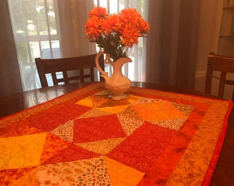 "Quilted Fall Tablecloth, 25"" x 33"""
