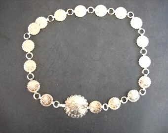 Silver metal concho belt