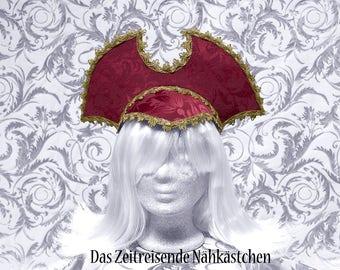 "French Hood - Elizabethan Headdress, Renaissance, Kokoshnik, ""Time Lord"" Headpiece"