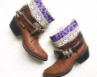 Upcycled Boho Boots, Upcycled Cowboy Boots, SALE SALE SALE, Re Vamped Gypsy Boots, Boho Style Boots, Festival Boots, Hippie Boots, Ready To