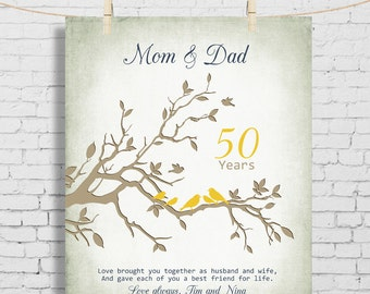 50 year wedding anniversary gifts for parents