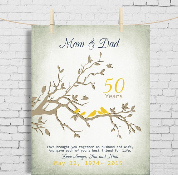 50th Wedding Anniversary Gift Anniversary gift for parents