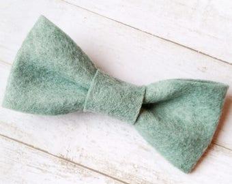Kids Bow Tie. Toddler Bow Tie. Boys Bow Tie. Clip On Bow Tie. Ring Bearer Bow Tie. Blue Felt Bow Tie. Wedding Bow Tie. Little Boy Bow Tie