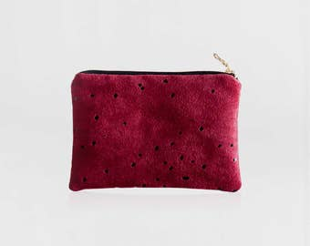 Small makeup bag, Gift for her, Coin purse, Vegan gift, Zipper pouch, Small wallet, Bridesmaid gift, Clutch bag, Best friend gift, Lee Coren