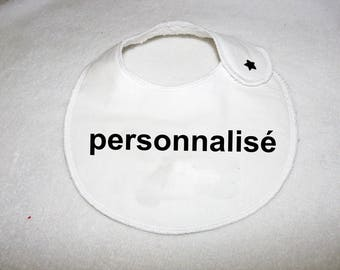 small bib to be personalized by embroidery