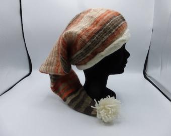 """PDF Knitting pattern stocking hat """"Lutin"""""""