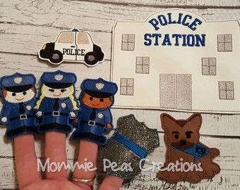 Police Inspired Finger Puppet Set