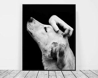 Dog Print, Digital Download, Printable Art, Dog Art, Animal Print