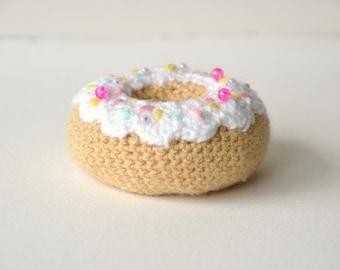 Donut Crochet Pattern, Dough Nut Crochet Pattern, Amigurumi Donut, Amigurumi Doughnut, Food Crochet Pattern, Kawaii Crochet Pattern Toy Food