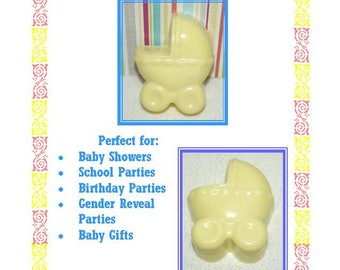 1 Baby Shower Soap Favor, Baby Carriage Soap Favors, Gender Reveal Shower Favors, Welcome Baby Favors