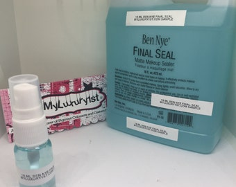 Ben Nye Final Seal Matte Makeup Sealer 1 oz SAMPLE bottle for Weddings Everyday Wear Theater Body Paint Stay On Half Ounce Spritzer NEW