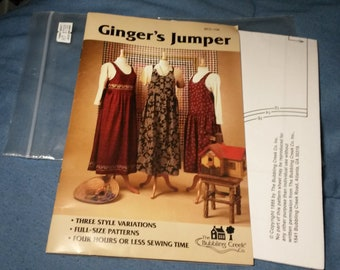 Ginger's Jumper pattern with 3 different wiastlines