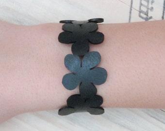Bracelet inner tube flowers, FREE SHIPPING, eco friendly bracelets, Upcycled Recycled bracelet,  Charm Bracelet, bracelets for women