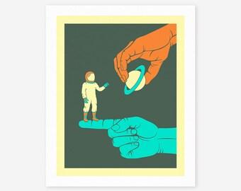 DREAMER (Giclée Fine Art Print/Photo Print/Poster Print) Colored version