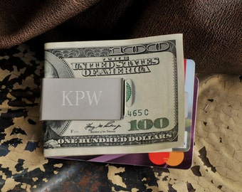 Personalized No-Slip Money Clip - monogrammed Money Clip - Money Clip - Groomsmen Gifts - Gifts for Him - Gifts for Dad - GC844