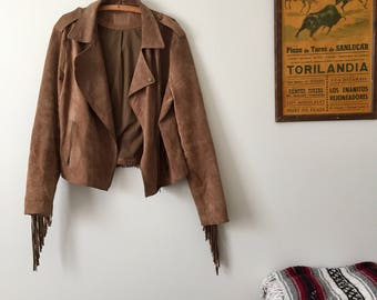 Real Suede Fringe Jacket