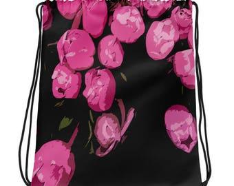Mini-Rucksack-Beutel - fallenden Blüten