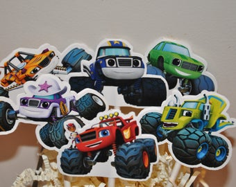 Blaze and the Monster Trucks Cupcake Toppers