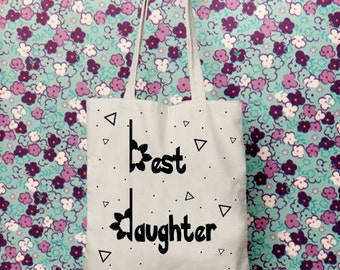 Gift for daughter, Tote bag canvas, Gift for her, Shoulder bag, Bags and totes, Mother daughter gift, Canvas tote bag personalized, tote bag