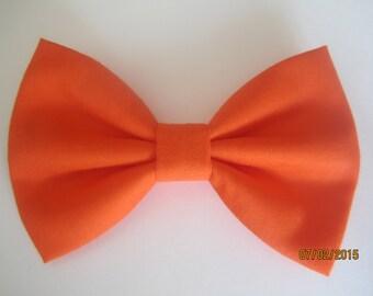 Orange bow tie for men, orange cotton bow tie, boy orange bow tie. orange wedding bow tie, custom bow tie for wedding, solid orange bow tie