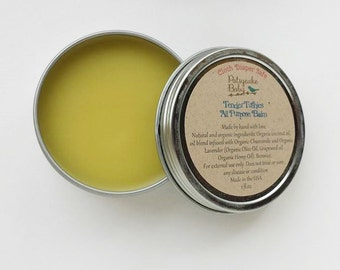Sale, tender tushies all purpose balm, infused with lavender and chamomile, cloth diaper safe