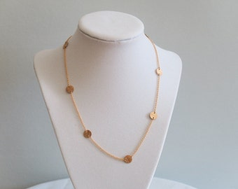 Delicate golden necklace