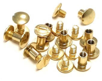 "10 Pack 1/4"" Brass Chicago Screws"