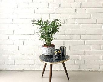 Mid century flower stool, vintage plant stand, tripod, vintage side table, rockabilly, vintage flower stool, vintage furniture