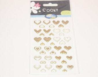 sticker  heart gold