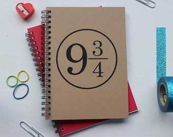 9 3/4 (Harry Potter) - 5 x 7 journal