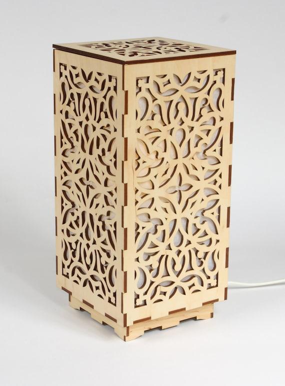 Wooden lamp decorative lamp laser cut wood lamp table aloadofball Images
