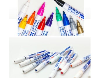 MUNHWA Liquid Permanent Paint Marker Oil-Based 4.5mm Round Nip 11 Colors