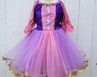 RAPUNZEL dress, Princess Rapunzel, Purple Princess dress, Rapunzel costume, Toddler Princess Dress,  winter princess dress,  Holiday dress
